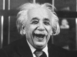 einstein laugh