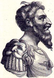 1894 engraving of Attila from Charles Horne's Great Men and Famous Women