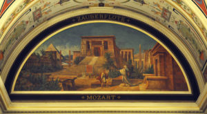The Magic Flute, a painting in the Dresden Semperoper Foyer