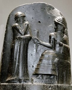 Hammurabi bas relief