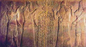Chaldeans depicted on a relief