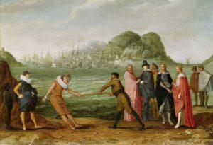 dutch spanish fleet colonies allegory