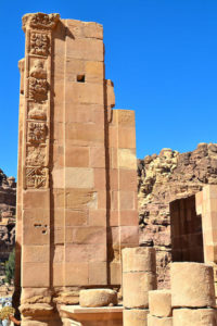 an arched Roman gate in Petra